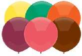"17"" Outdoor  Balloons (72 Count) Autumn Assortment"