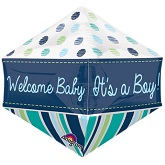 "21"" Ultrashape™ Anglez™ Welcome Baby Boy Balloon"