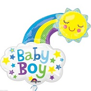 "30"" Jumbo Baby Boy Bright Happy Sun Balloon"