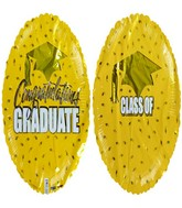 "18"" Congratulations Graduate Add a name Yellow Balloon"