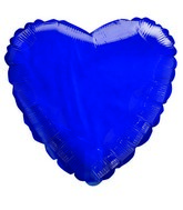"18"" Transparent Royal Blue Heart Shaped Balloon"