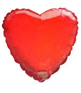 "18"" Transparent Orange Heart Shaped Balloon"