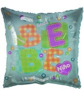 "18"" Lindo Bebe Stiches Spanish Pale Blue Balloon"