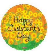 "18"" Happy Assistant&#39s Day Balloon Flowers"