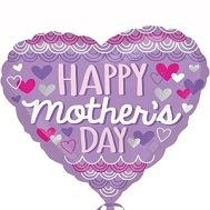 "18"" Happy Mother&#39s Day Purple Scallop Balloon"