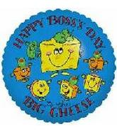 "18"" Happy Boss's Day To the Big Cheese"