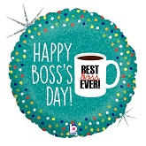 "18"" Holographic Balloon Boss&#39s Day Coffee Mug"