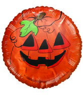 Jack-o-Lantern Halloween Themed Airfill-Only Balloon