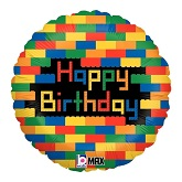 "18"" Birthday Blocks Lego Balloon"
