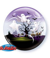 "22"" Spooky Ghosts Bubble Balloons"