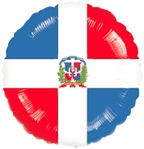 "18"" Dominican Republic Flag Balloon"
