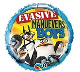 "18"" Evasive Manuevers Boys - The Penguins Mylar Balloon"