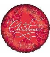"9"" Airfill Starry Red Merry Chirstmas M381"