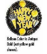 "18"" New Years Golden Party Balloons"