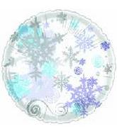 "18"" First Snow No Message Snowflake"