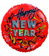 "4"" Airfill Only Balloon Happy New Years Red"
