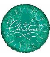 "4"" Merry Christmas Starry Night Green"