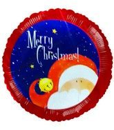 "4"" Airfill Merry Christmas Santa Red Border Balloon"