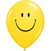 "11"" Smile Face Yellow w/Black Ink (50 ct.)"