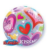 "22"" Be Mine Valentine Hearts Single Bubble"