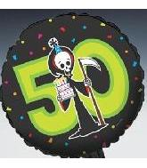 "18"" Birthday Grim Reaper ""50"" (B3)"