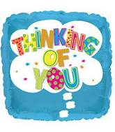 "17"" Thinking Of You Cloud Foil Balloon"