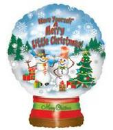 "22"" Merry Little Christmas Globe"