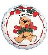 "18"" Suzy&#39s Zoo I Love You Holding Roses"