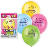 "12"" 8 Count Shopkins Balloons 2 Sided"