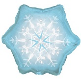 "9"" Airfill Only Snowflake Shape Mylar Balloon"