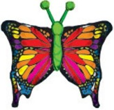 "38"" Colorful Butterfly Jumbo Balloon Packaged"