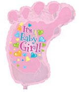 "34"" It&#39s a Baby Girl Foot"