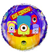 "18"" Psyclops Eye Candy Licensed Mylar Balloon Packaged"