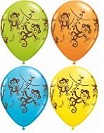 "11"" Mischievous Monkeys Assorted (50 ct.)"