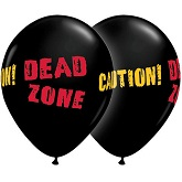 "11"" Dead Zone Black Onyx Balloon (50 Count)"