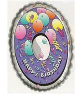 25'' Numeral 0 Birthday Balloon