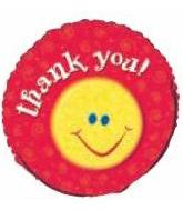 "18"" Thank You Balloon Smiley Balloon"