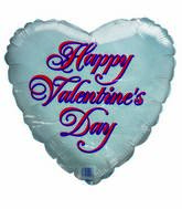 "18"" Happy Valentines Day Doublesided Heart Balloon"