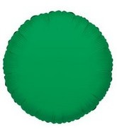 "18""  Green Round Mylar Balloon"