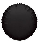 "18"" Black Round Mylar Balloon"