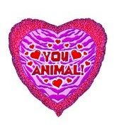 18&#39&#39 You Animal Print Heart