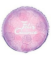 "18"" Feliz Quince Happy Birthday Flowers"