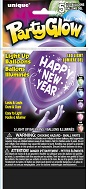 "10"" Happy New Years Light Up Arifill Balloons 1-Sided 5Ct"