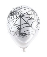 "10"" Scaredy Spiderweb Light Up Airfill Balloons 1-Sided 5Ct"