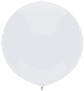 "17"" Outdoor Display Balloons (72 Count) Bright White"