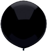"17"" Outdoor Display Balloons (72 Count) Pitch Black"