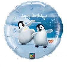 "18"" Happy Feet Happy Birthday Foil Balloons"