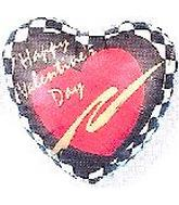 "2"" Airfill Happy Valentine&#39s Day Checkerboard"
