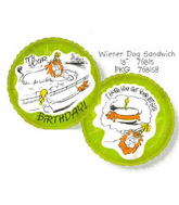 "18"" Happy Birthday Dog Sandwich Balloon"