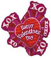 "36"" XOXO Happy Valentine&#39s Day"